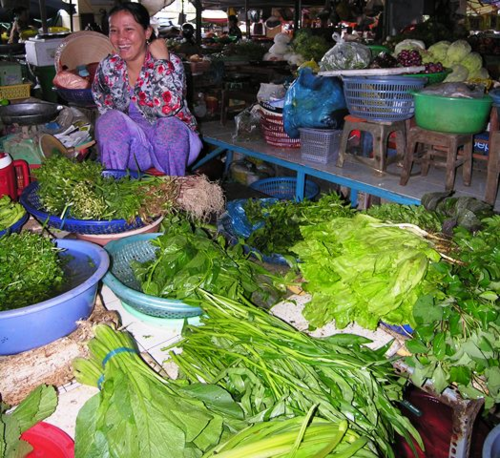 Smiles from a market lady in Vietnam (Photo by David G. Molyneaux, TheTravelMavens.com)
