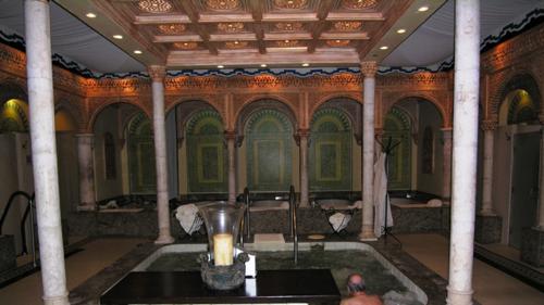 Men's ritual bath at Spa Palazzo at Boca Raton Resort and Club, Florida (Photo by David G. Molyneaux, TheTravelMavens.com)
