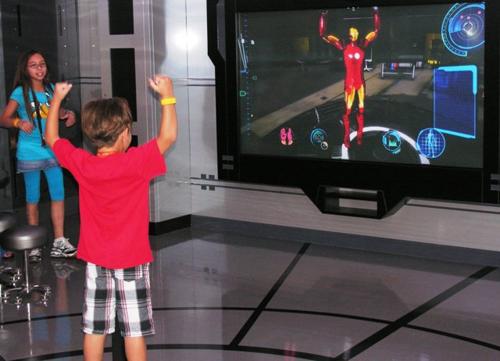 You move your arms. Iron Man moves his arms (Photo by David G. Molyneaux, TheTravelMavens.com)