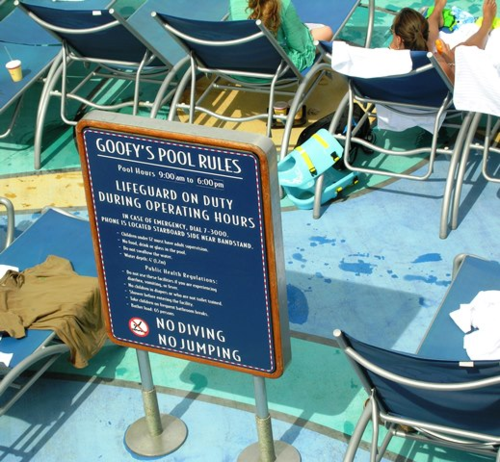 Disney has added a lifeguard to its main pool, during the day, a move some other cruise lines may follow (Photo by David G. Molyneaux, TheTravelMavens.com)