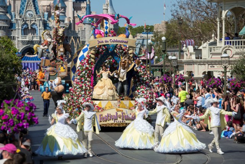 The Princess Garden rolls down Main Street (David Roark, photographer)