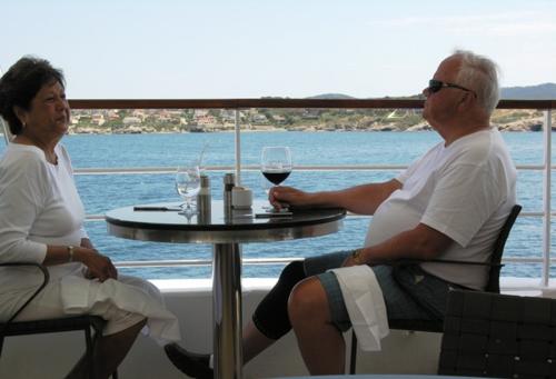 Lunch on The Veranda of Star Pride off the coast of Italy (Photo by David G. Molyneaux, TheTravelMavens.com)