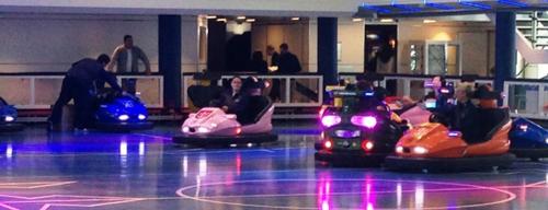 Bumper cars on Quantum of the Seas (Photo by David G. Molyneaux, TheTravelMavens.com)
