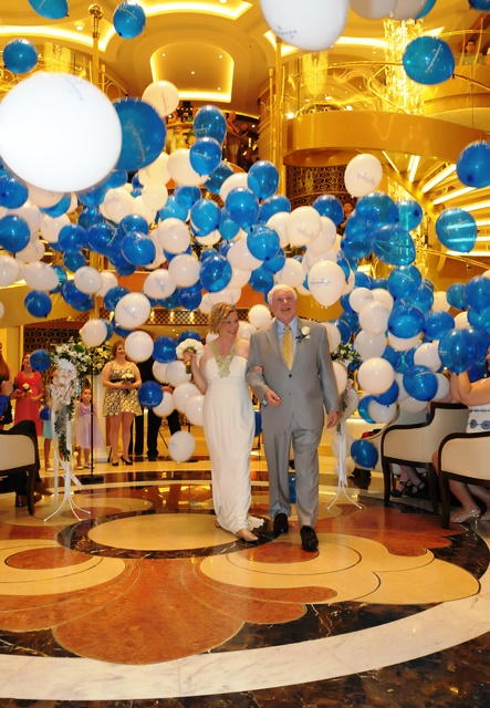 The newlyweds, Fran Golden and David Molyneaux on Regal Princess
