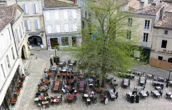Saint-Emilion square in Bordeaux, France (Photo by David G. Molyneaux, TheTravelMavens.com)