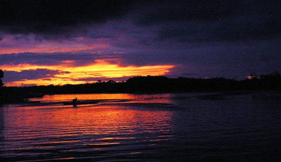 Sun sets in the Upper Amazon, Peru (Photo by David G. Molyneaux, TheTravelMavens.com)