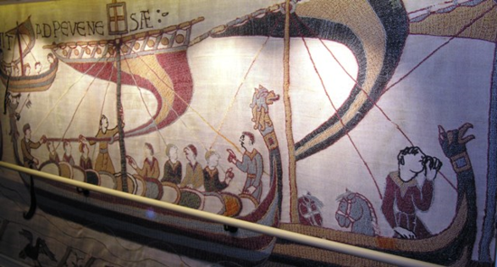 Scenes from the Bayeux Tapestry aboard Viking Sta