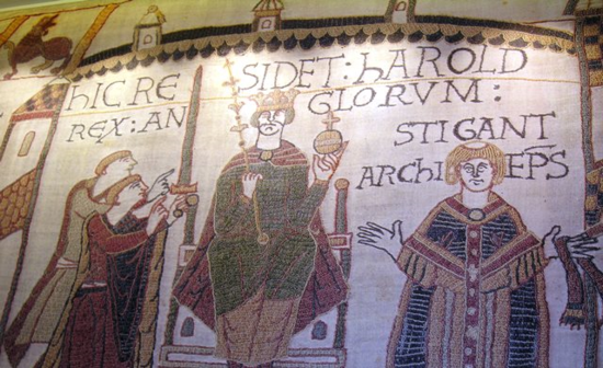 Scenes from the Bayeux Tapestry