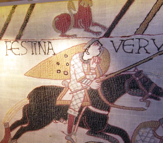 Scenes from the Bayeux Tapestry on Viking Star