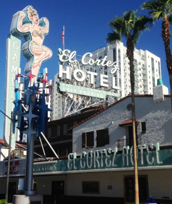 The El Cortez, which opened in 1941, is the longest continuously running hotel and casino in Las Vegas. At one time it was owned by Bugsy Siegel and Meyer Lansky. (Photo by David G. Molyneaux, TheTravelMavens.com)