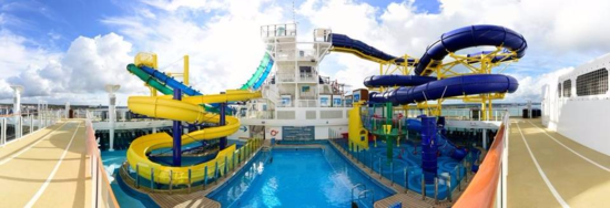 Waterslides on Norwegian Escape