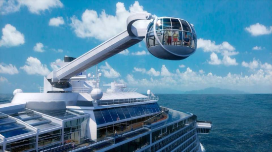 Anthem of the Seas' North Star provides panoramic views of the ship and the waters nearby