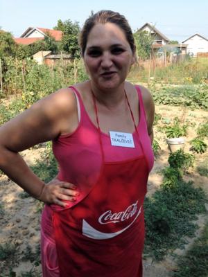 Rejna Tkalcevic in her garden in Croatia (Photo by David G. Molyneaux, TheTravelMavens.com)