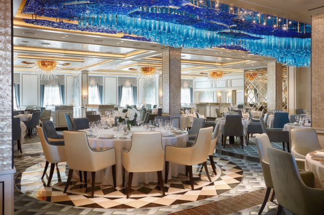 Compass Rose, the main dining room on Seven Seas Explorer (Photo by Regent Seven Seas)