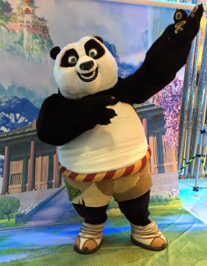 Kung Fu Panda is available for hugging on Ovation of the Seas (Photo by David G. Molyneaux, TheTravelMavens.com)