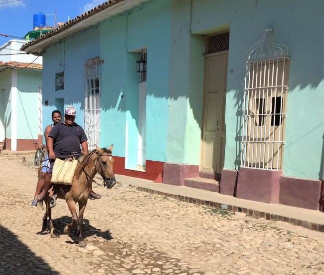 Cobblestone street of Trinidad, Cuba (Photo by David G. Molyneaux, TheTravelMavens.com)