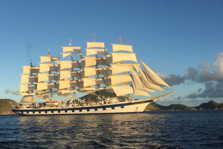 Royal Clipper fully rigged with its 42 sails (Photo by Fran Golden, TheTravelMavens.com)