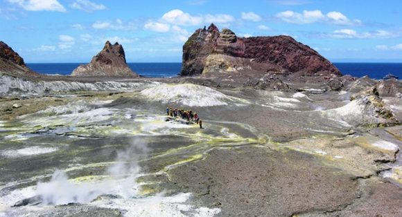 On the Earth's crust at White Island