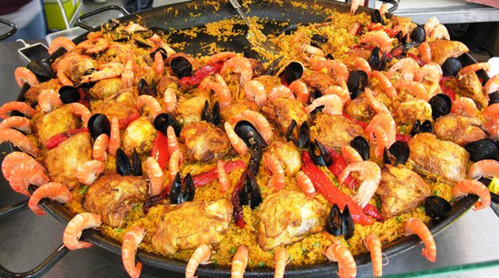 Lunch at the Wednesday market in Sanary-sur-Mer, France (Photo by David G. Molyneaux, TheTravelMavens.com)