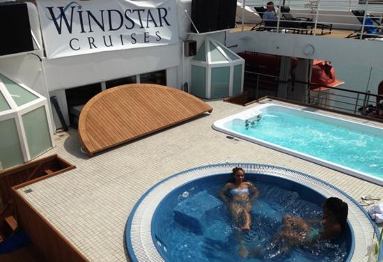 New pool and whirlpool on Star Breeze (Photo by David G. Molyneaux, TheTravelMavens.com)