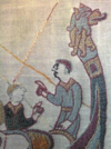 Bayeux Tapestry reproduction on Viking Star cruise ship