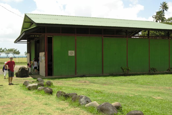 Brel's memorial in Atuona on Hiva Oa in the Marquesas Islands (Photo by David G. Molyneaux, TheTravelMavens.com)