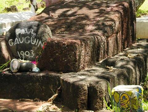 Paul Gauguin Grave at Atuona in the Marquesas Islands of thre South Pacific (Photo by David G. Molyneaux, TheTravelMavens.com)