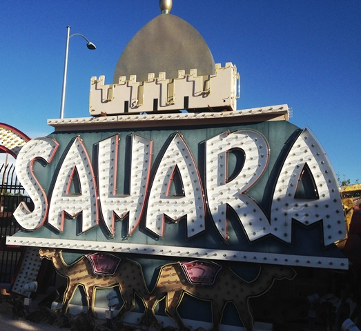 The Sahara Hotel and Casino, in operation from 1952 to 2011, anchored the northern end of the Las Vegas Strip. (Photo by David G. Molyneaux, TheTravelMavens.com)