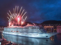 Viking Star Naming Fireworks in Bergen, Norway