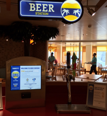 Slip your cabin card into the slot and pour yourself a beer on Carnival Vista  (Photo by David G. Molyneaux, TheTravelMavens.com)