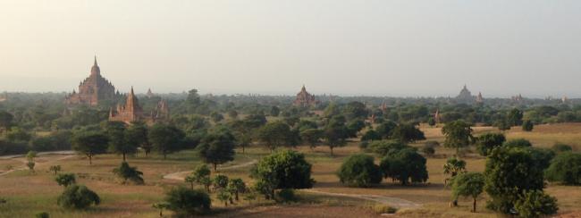 Bagan, Myanmar, just before sunset (Photo by David G. Molyneaux, TheTravelMavens.com)