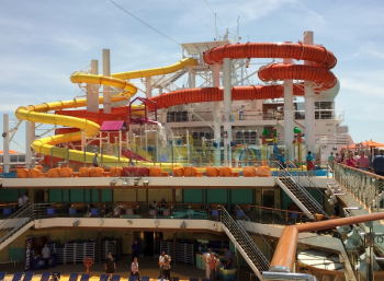 Carnival Vista waterslides  (photo by David G. Molyneaux, TheTravelMavens.com)