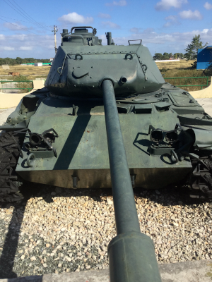 A tank at the Bay of Pigs (Photo from Daily Expedition report by Lindblad Expeditions/National Geographic)