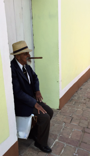 Dressed to rest in Trinidad, Cuba (Photo by David G. Molyneaux, TheTravelMavens.com)