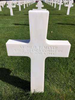 Ohio's Staff Sergeant Arther F. Meyer, 112th Engineer Combat Battalion, died June 6, 1944 (Photo by David G. Molyneaux, TheTravelMavens.com)