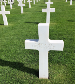 Ohio's First Sergeant Harry Lutz, 262nd Regiment of the 66th Infantry Division, died Dec. 25, 1944 (Photo by David G. Molyneaux, TheTravelMavens.com)