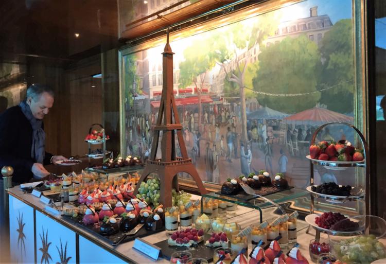The dessert selection at Le Pigalle, the main restaurant on Joie de Vivre. (Photo by David G. Molyneaux, TheTravelMavens.com)