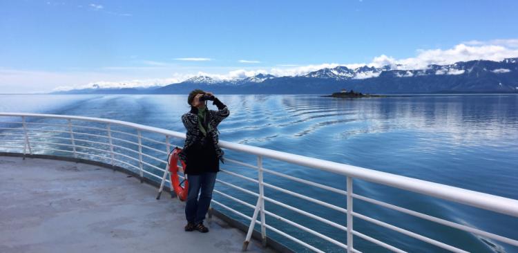 Alaska ferry Matanuska on the Inside Passage between Petersburg and Skagway (Photo by David G. Molyneaux, TheTravelMavens.com)
