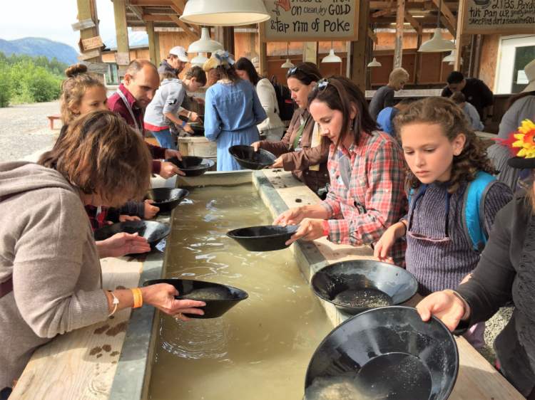 Panning for gold in Skagway, Alaska (Photo by David G. Molyneaux, TheTravelMavens.com)