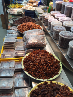 The executive chef bought 80 pounds of dates in Muscat, Oman, for the 553 passengers aboard Seabourn Encore to share (Photo by David G. Molyneaux, TheTravelMavens.com)