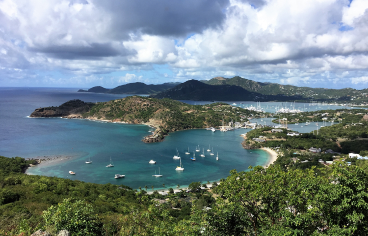 Sailboats dominate the harbor at Antigua (Photo by David G. Molyneaux, TheTravelMavens.com)