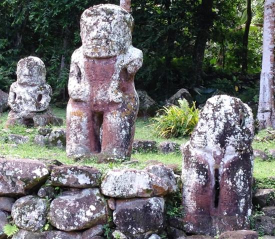 Tikis Te I'Ipona on Hiva Oa in the Marquesas (Photo by David G. Molyneaux, TheTravelMavens.com)