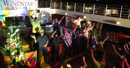 Deck party on the Star Breeze (Photo by David G. Molyneaux, TheTravelMavens.com)