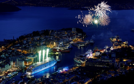 Viking Star celebration in Bergen, Norway