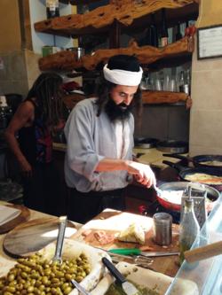 Lunch, Yemeni style, in Safed, Israel (Photo by David G. Molyneaux, TheTravelMavens.com)
