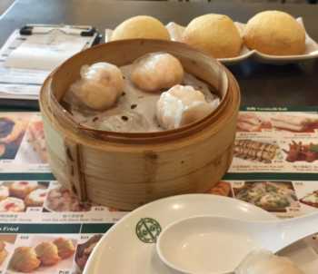 Baked buns of BBQ pork and steamed dumplings in Manila, the Philippines (photo by David G. Molyneaux, TheTravelMavens.com)