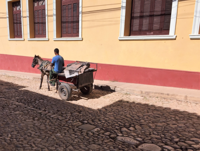 Cobblestone street of Trinidad, Cuba (Photo by David G. Molyneaux, TheTravelMavens.com)