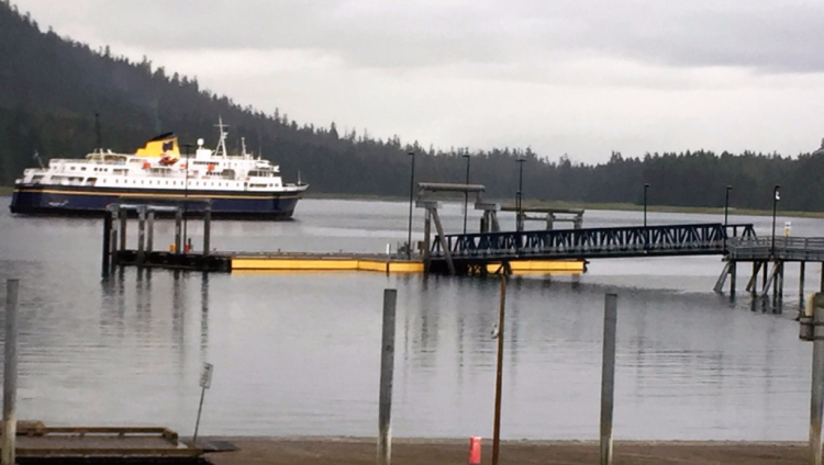 Alaska ferry leaves Petersburg, heading north (Photo by David G. Molyneaux, TheTravelMavens.com)