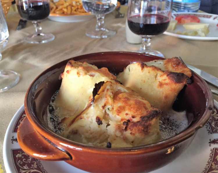 Mouth-watering crespolini at Trattoria Da Cumpa' Cosimo in Ravello, Italy (photo by Fran Golden, TheTravelMavens.com)