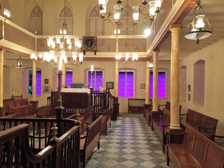 Inside Nidhe Israel Synagogue, a UNESCO World Heritage Site. (Photo by David G. Molyneaux TheTravelMavens.com)